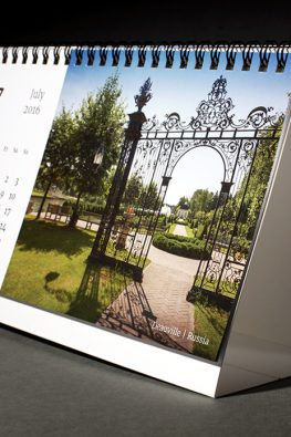 Настольный перекидной календарь Mirum с вырубкой и конгревом