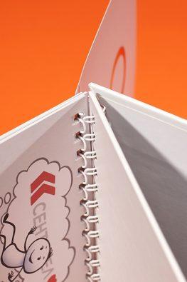Настольный перекидной календарь для компании Сентинел
