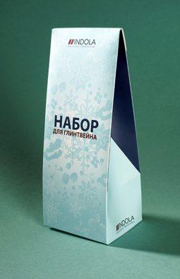 """Картонная коробка для компании Indola """"Набор для глинтвейна"""""""