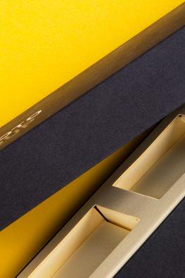 Картонная коробка (крышка дно) с ложементом для компании Zoloto Group