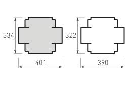 Коробка крышка и дно с оклейкой 152x219x76