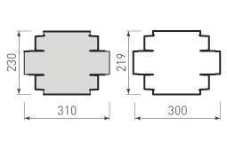 Коробка крышка и дно с оклейкой 160x80x50
