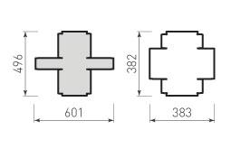 Коробка крышка и дно с оклейкой 180x180x80