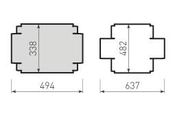 Коробка крышка и дно с оклейкой 352x197x123
