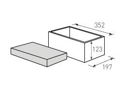 Коробка крышка дно с оклейкой 352x197x123