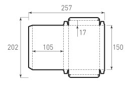 Коробка из 1 слойного картона 105x150x17