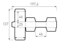 Коробка из 1 слойного картона 46x46x25
