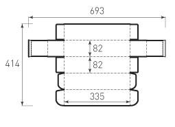 Коробка из 1 слойного картона 82x82x335 для бутылки