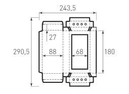 Коробка из 1 слойного картона 88x180x27