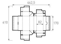 Коробка из 2-ух слойного картона 170x80x82