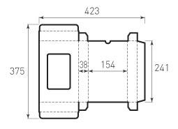 Коробка из микрогофрокартона 241x154x38