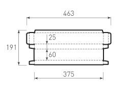 Коробка из микрогофрокартона 375x60x25