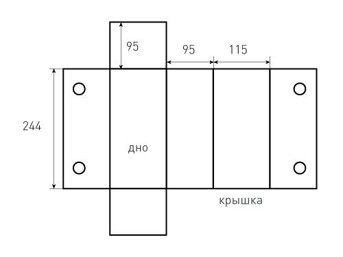 Коробка на магнитах 115x95x244. Уникло, превью 500x375 пикселей