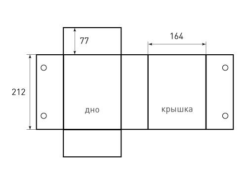 Коробка на магнитах 164x77x212. Превью 500x375 пикселей