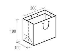 Горизонтальный бумажный пакет Г200x180x100