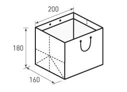 Горизонтальный бумажный пакет Г200x180x160