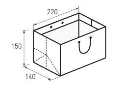 Горизонтальный бумажный пакет Г220x150x140