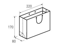 Горизонтальный бумажный пакет Г220x170x80