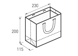 Горизонтальный пакет Г230x200x115