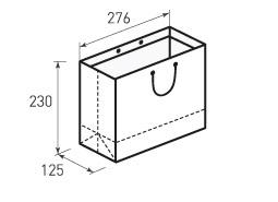 Горизонтальный бумажный пакет Г276x230x125