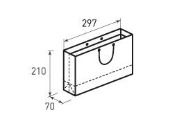 Горизонтальный бумажный пакет Г297x210x70