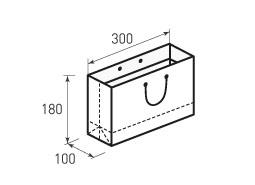 Горизонтальный бумажный пакет Г300x180x100