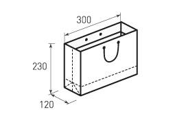 Горизонтальный бумажный пакет Г300x230x120