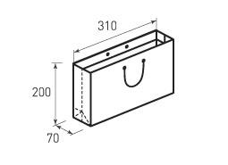 Горизонтальный бумажный пакет Г310x200x70