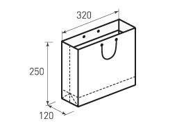 Горизонтальный бумажный пакет Г320x250x120
