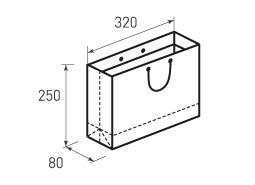 Горизонтальный бумажный пакет Г320x250x80