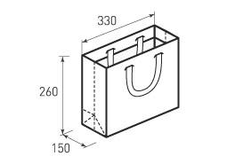 Горизонтальный бумажный пакет Г330x260x150