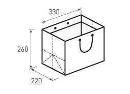 Горизонтальный бумажный пакет Г330x260x220