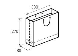 Горизонтальный бумажный пакет Г330x270x80
