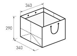 Горизонтальный бумажный пакет Г340x290x340