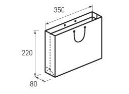 Горизонтальный бумажный пакет Г350x220x80