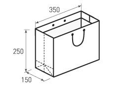 Горизонтальный бумажный пакет Г350x250x150