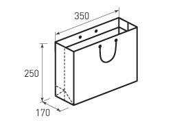 Горизонтальный бумажный пакет Г350x250x170