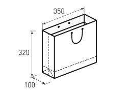 Горизонтальный бумажный пакет Г350x320x100