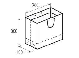 Горизонтальный бумажный пакет Г360x300x180
