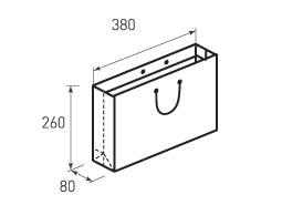 Горизонтальный бумажный пакет Г380x260x80