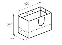 Горизонтальный бумажный пакет Г400x290x220