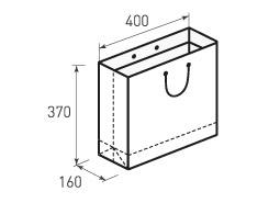 Горизонтальный бумажный пакет Г400x370x160