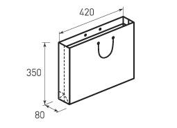 Горизонтальный бумажный пакет Г420x350x80