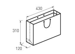Горизонтальный бумажный пакет Г430x310x120