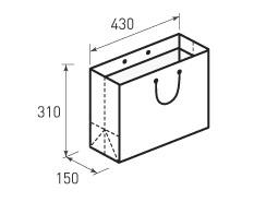 Горизонтальный бумажный пакет Г430x310x150