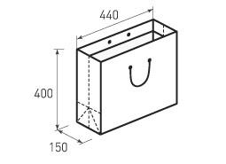 Горизонтальный бумажный пакет Г440x400x150