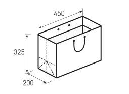 Горизонтальный бумажный пакет Г450x325x200