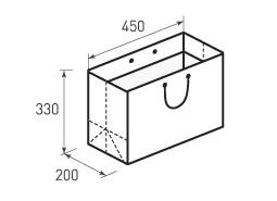 Горизонтальный бумажный пакет Г450x330x200