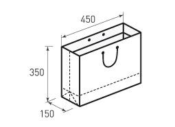 Горизонтальный бумажный пакет Г450x350x150