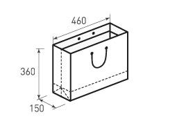 Горизонтальный бумажный пакет Г460x360x150